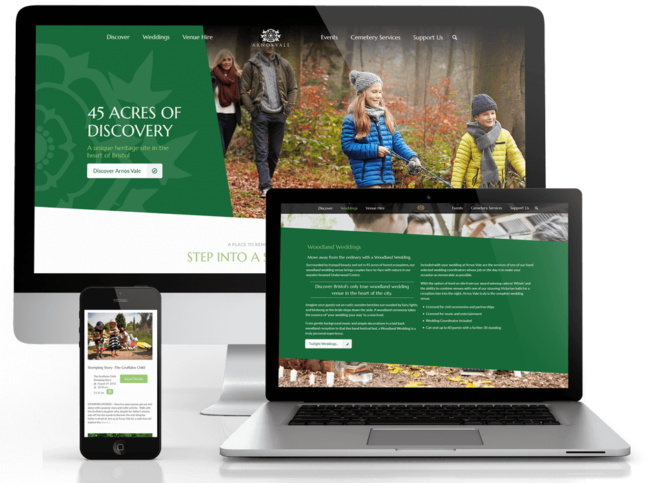 Arnos Vale website design