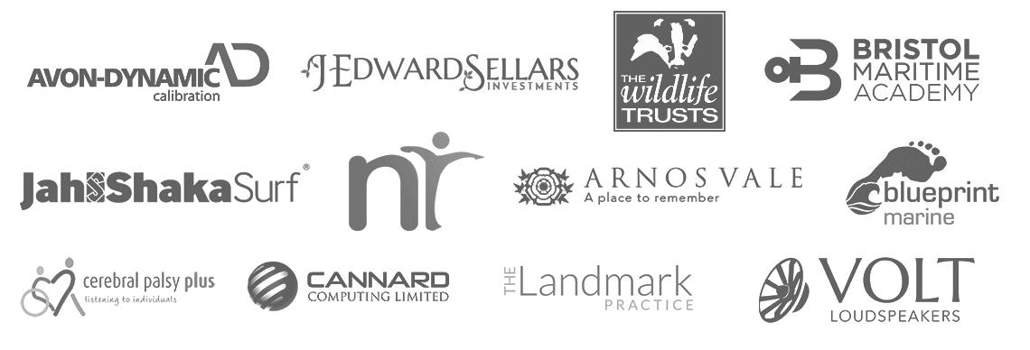 Client logos of Andy Gardner Web design