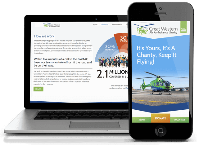 Great Western Air Ambulance Charity Web design