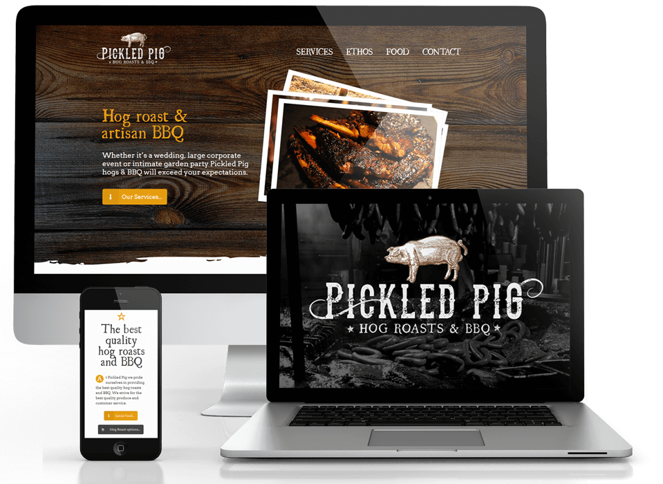 Pickled Pig branding and website design