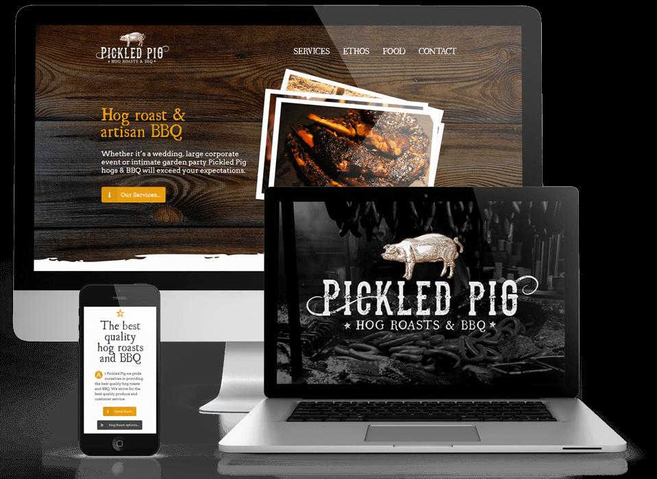 Pickled Pig branding and website design