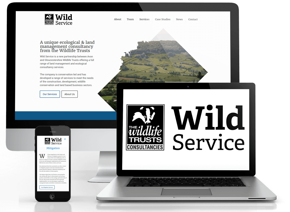 Wildlife trust brand and web design work